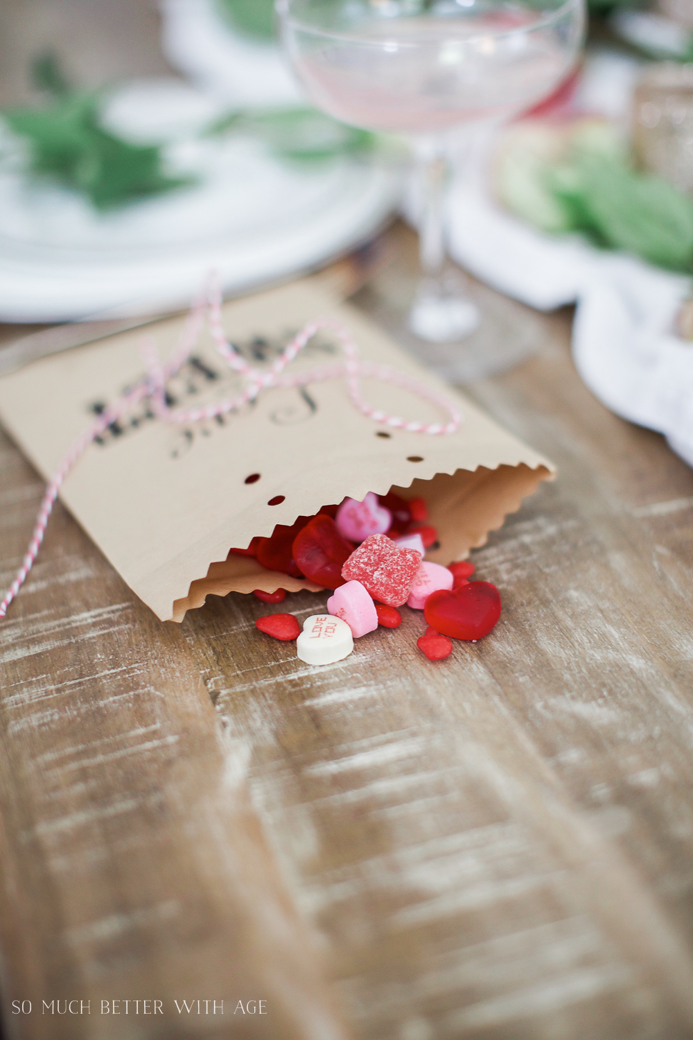 Valentine's Day Kraft Treat Bags - So Much Better With Age