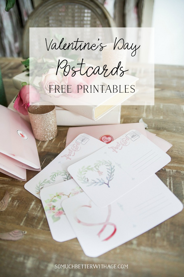 Valentine's Day Postcards - Free Printables - So Much Better With Age