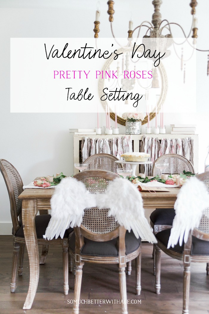 Valentine's Day Pretty Pink Roses Table Setting - So Much Better With Age