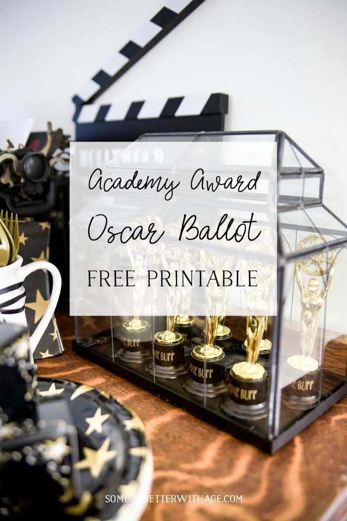 Academy Award Oscar Ballot - Free Printable - So Much Better With Age