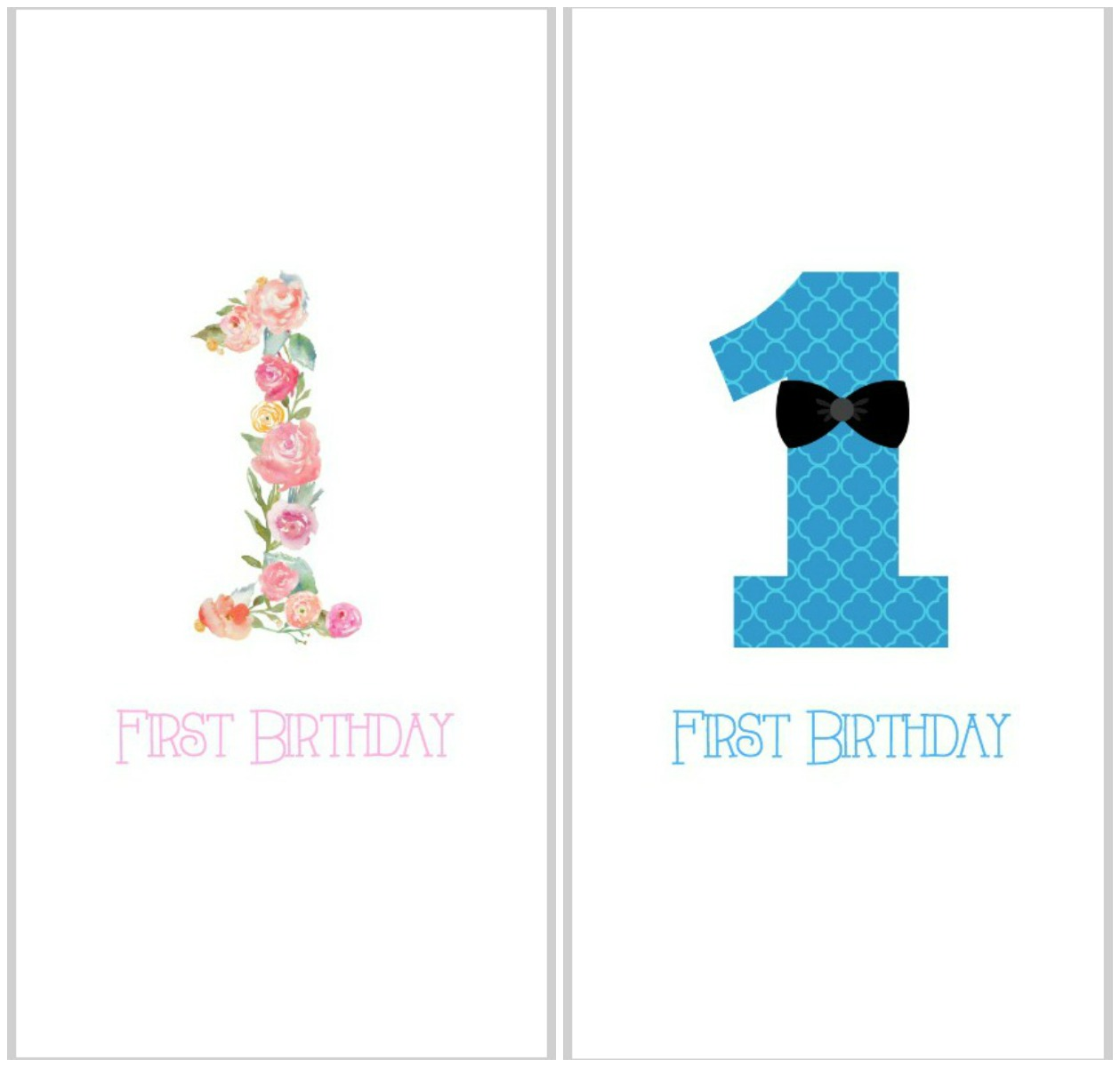 organizing kids' keepsakes - birthday cards (free printable) | so