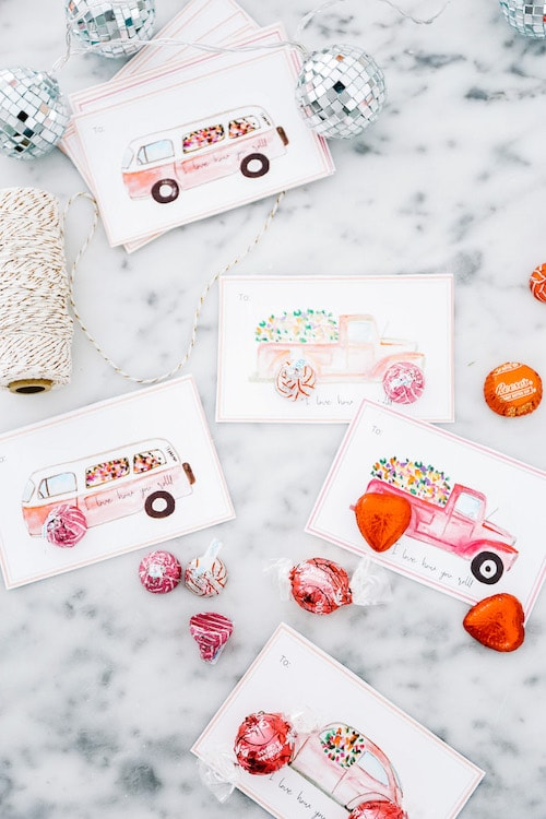 Printable Valentine's Day cards.