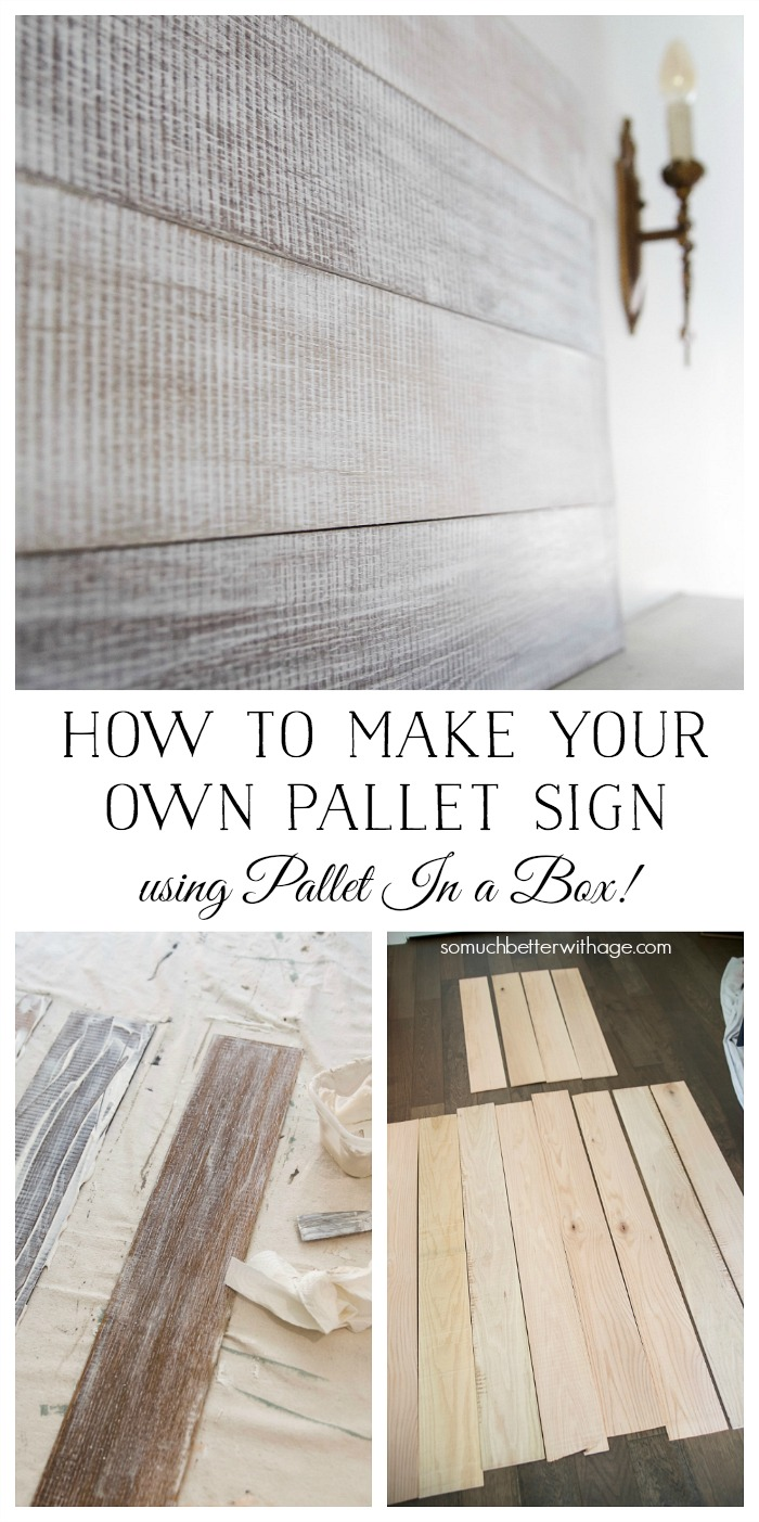 How to Make Your Own Pallet Sign using Pallet in a Box from Amy Howard