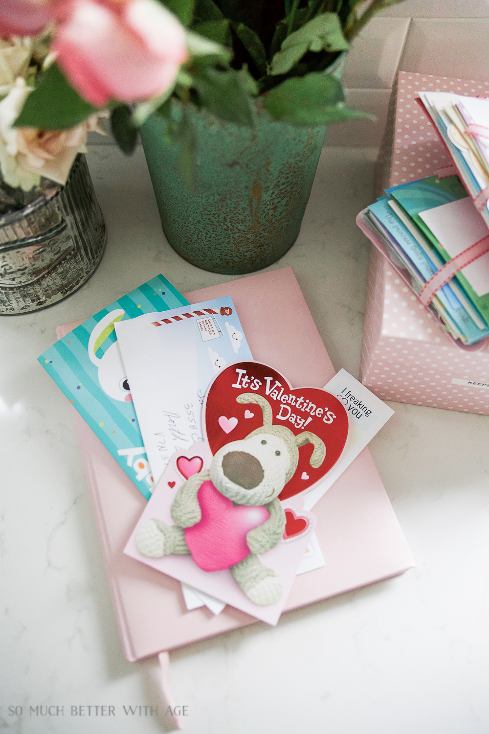 Organizing Kids Keepsakes (Birthday Cards) Printable/pretty cards with flowers - So Much Better With Age
