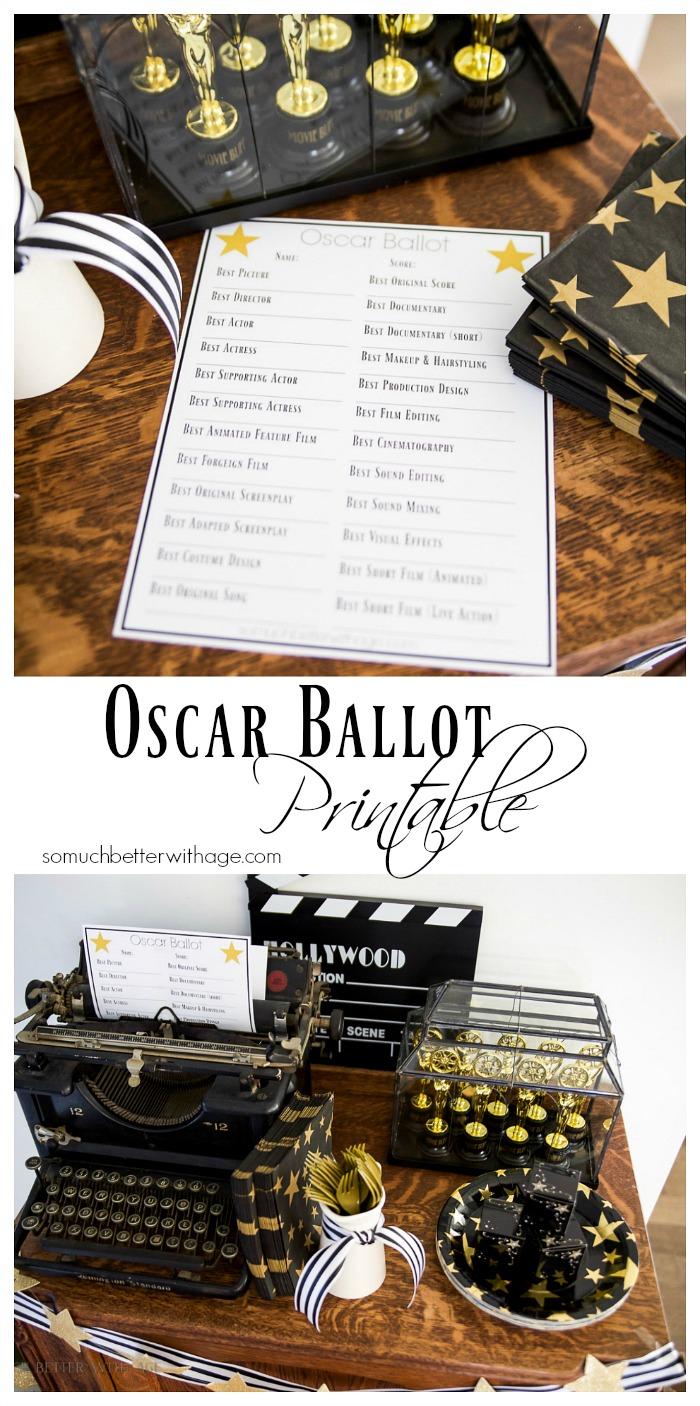 Oscar Ballot Printable