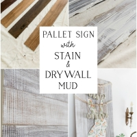 DIY Pallet Sign with Stain and Drywall Mud