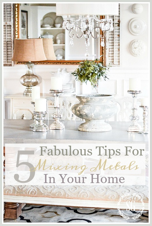 Stone Gable - 5 Fabulous Tips for Mixing Metals in Your Home