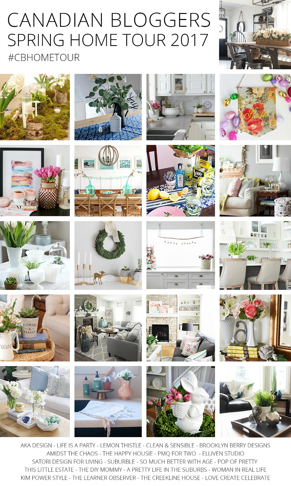Canadian Bloggers Spring Home Tour 2017