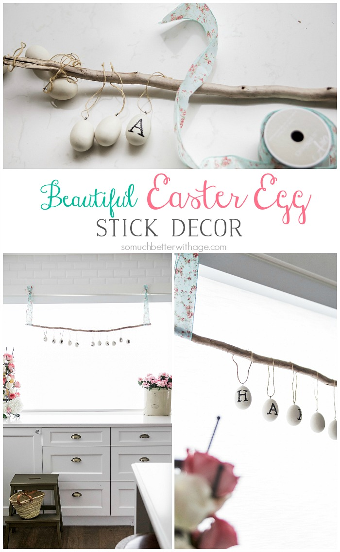 Beautiful Easter Egg Stick Decor
