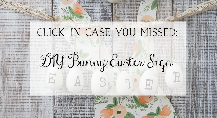 DIY Bunny Easter Sign.