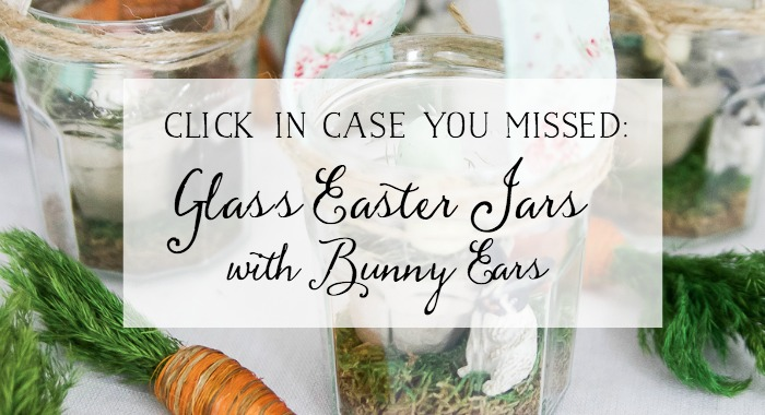 Glass Easter Jars with Bunny Ears.