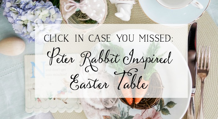 Peter Rabbit Inspired Easter Table.