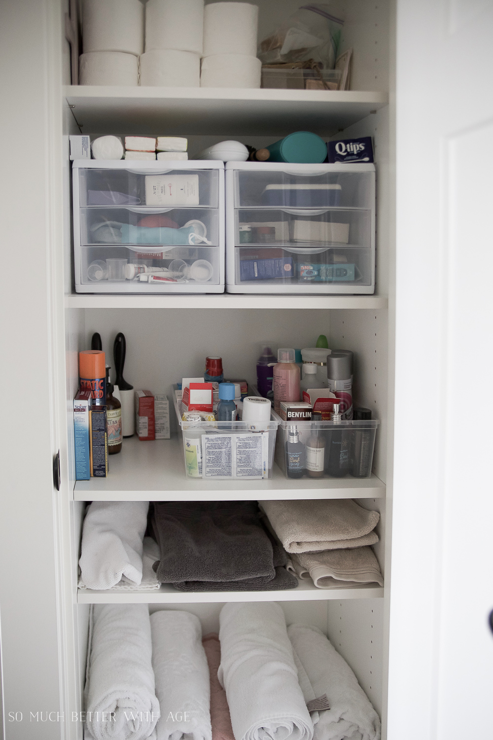 bathroom closet design closet organization with the home decluttering diet so 10298