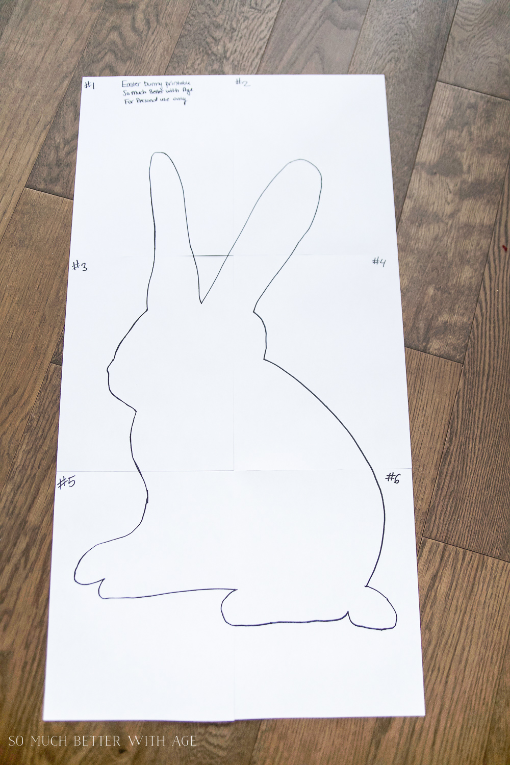 Easter Bunny Sign + Printable/download bunny template - So Much Better With Age