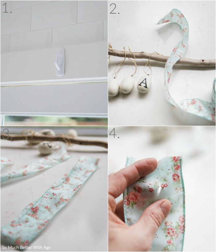 Easter Egg Stick Garland / directions - So Much Better With Age