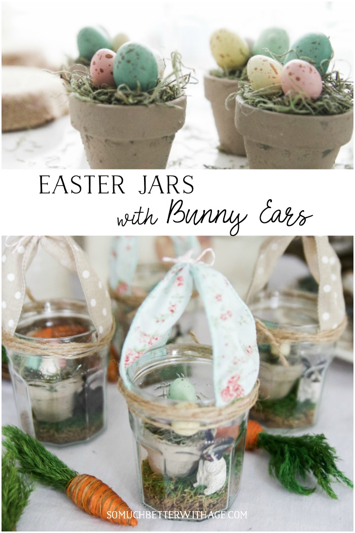 Easter Jars with Bunny Ears - So Much Better With Age