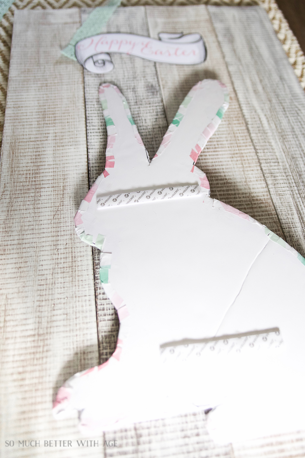 Happy Easter Bunny - printables for pallet sign