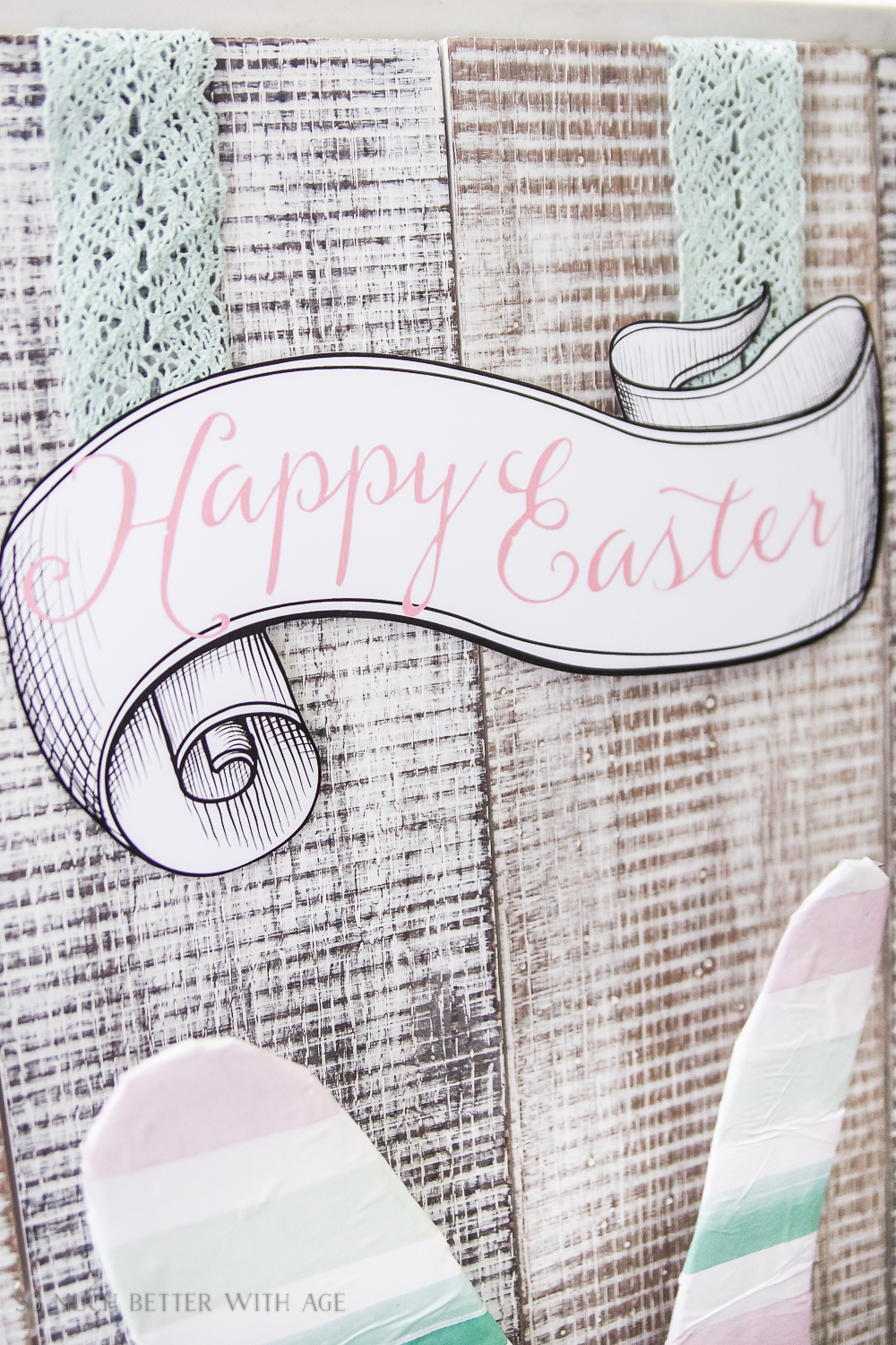 photograph about Happy Easter Sign Printable named Satisfied Easter Signal - Absolutely free Printable Consequently Substantially Improved With Age
