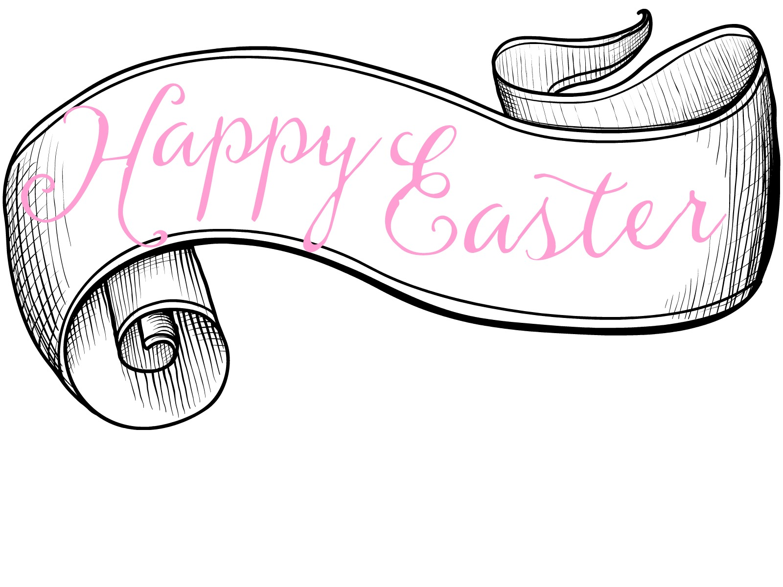 Sassy image within happy easter sign printable