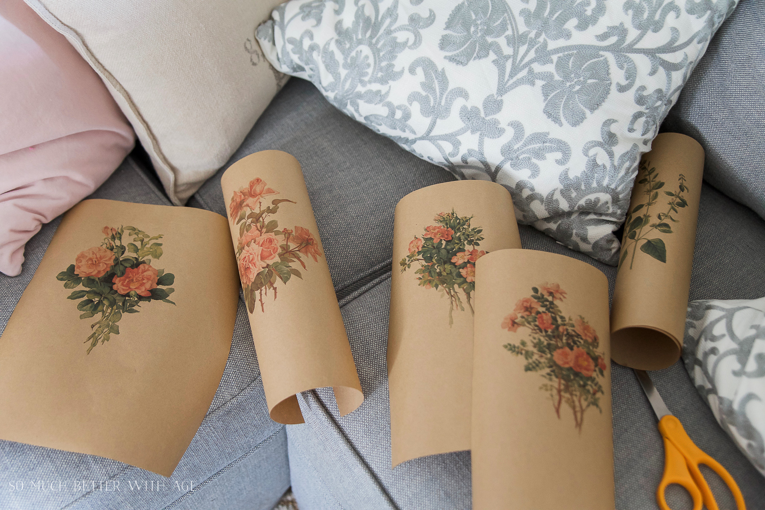 How to Print Out Printables on Kraft Paper - So Much Better With Age