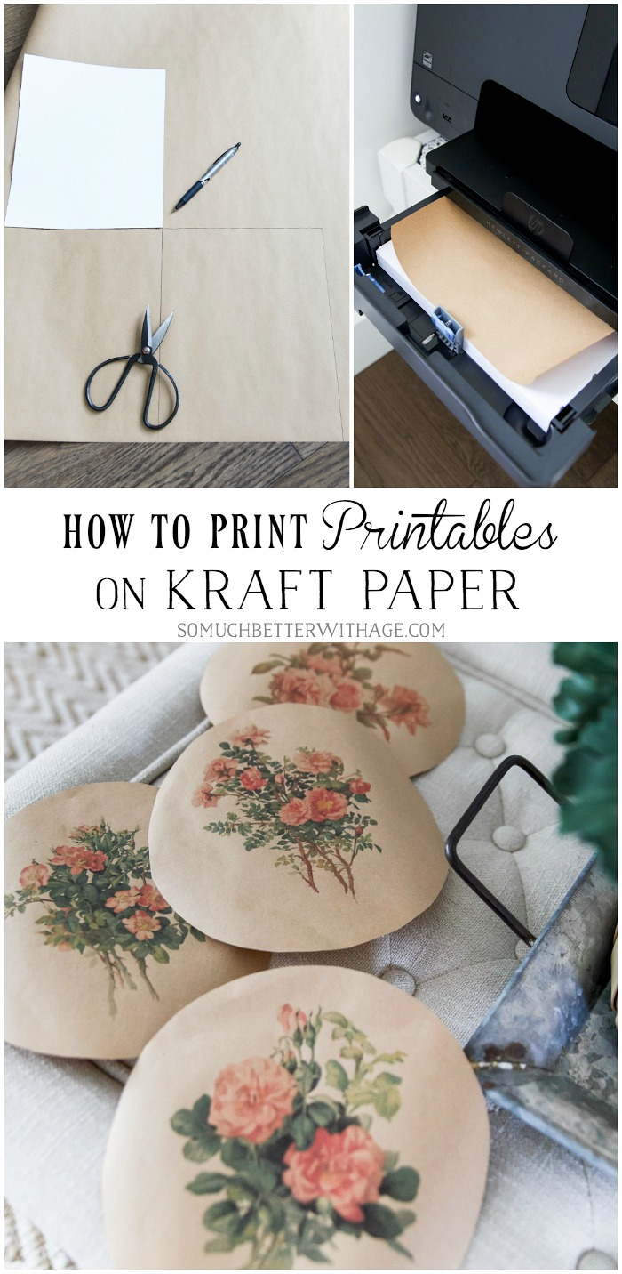 How to Print Printables on Kraft Paper - So Much Better With Age