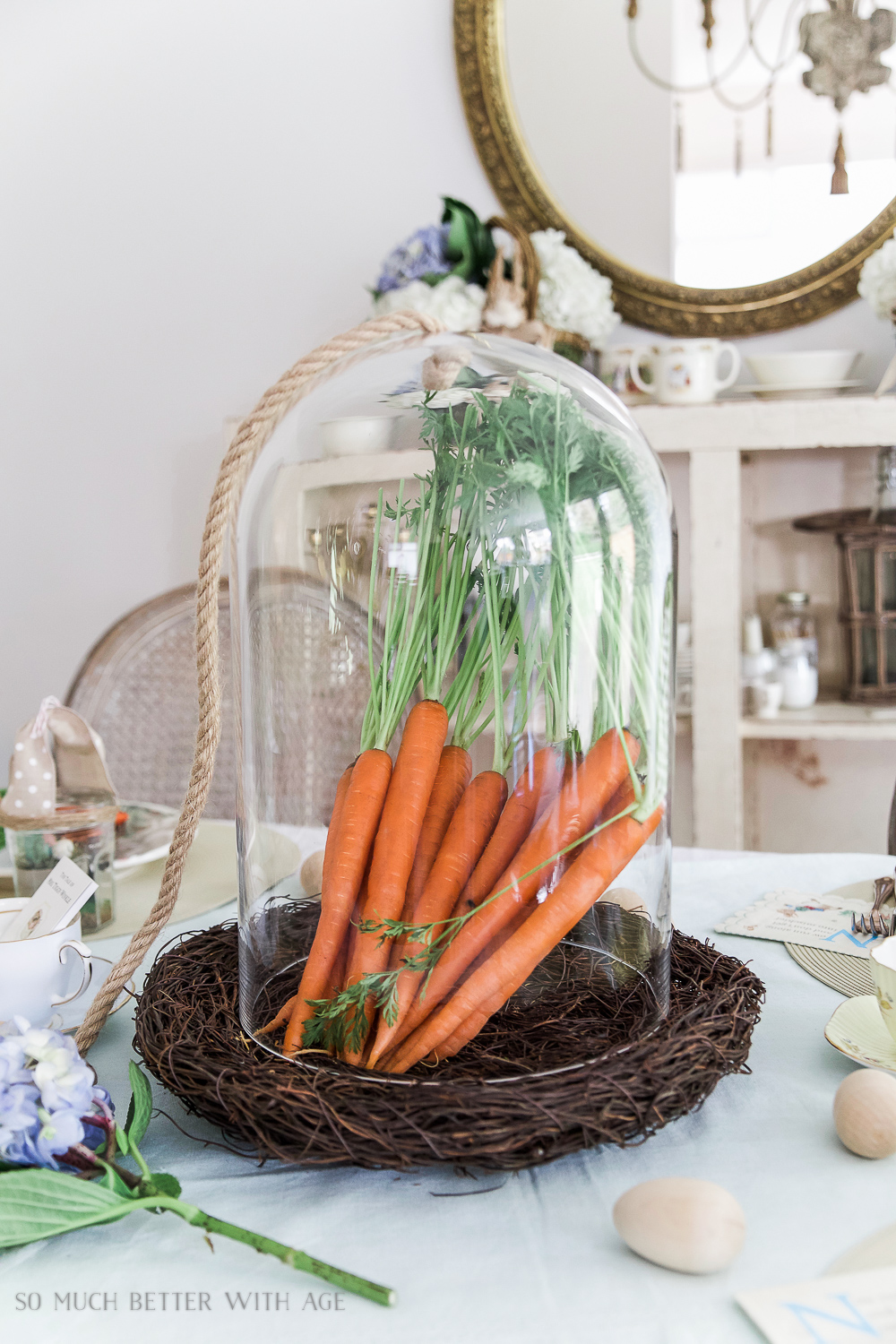 Peter Rabbit Inspired Easter Table - So Much Better With Age