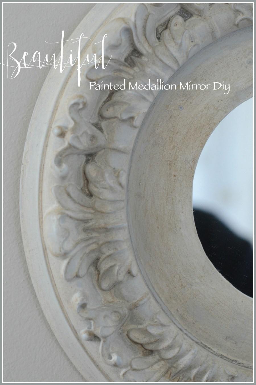 Stone Gable - Painted Medallion Mirror