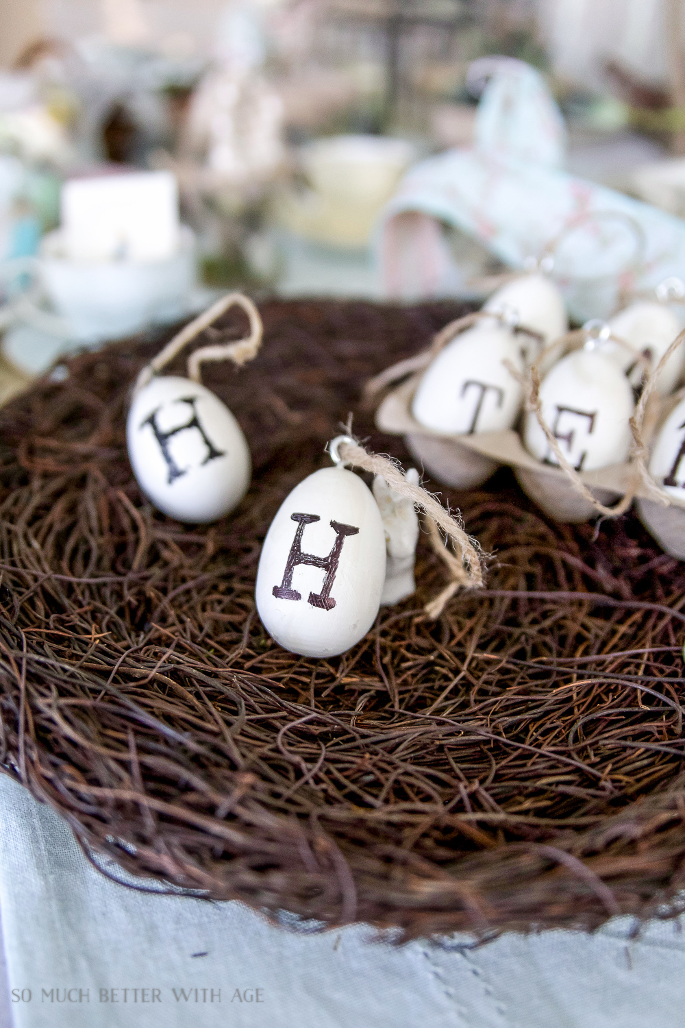 DIY Vintage Easter Eggs for a Happy Easter Garland - So Much Better With Age
