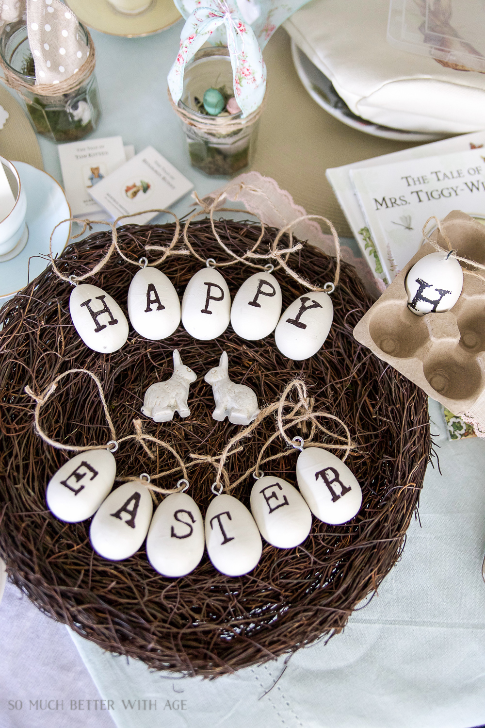 12 Creative Easter Decorating Ideas/Happy Easter egg ornaments - So Much Better With Age