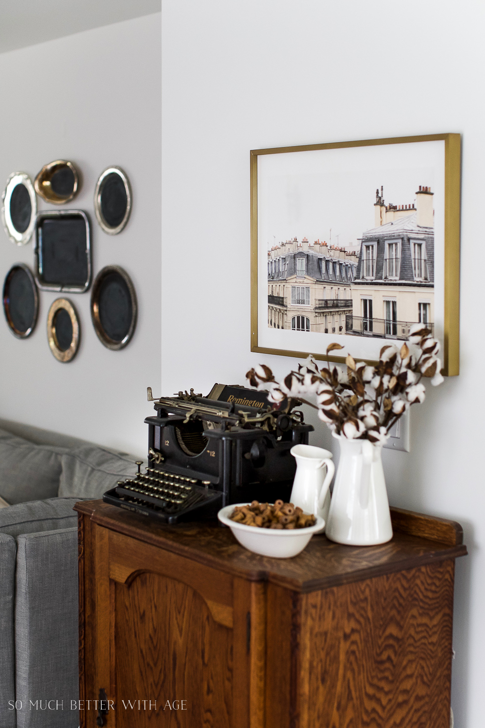 Paris Building, How to Pick Art with a French Vintage Vibe / wall art - So Much Better With Age