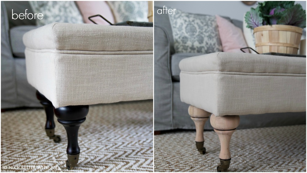 How to Easily Update Furniture Legs - So Much Better With Age
