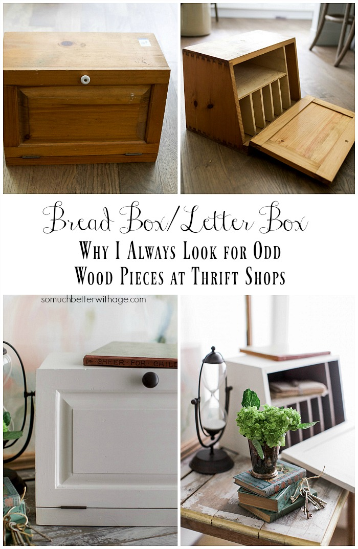 Bread Box to Letter Box - Why I Always Look for Odd Wood Pieces at Thrift Shops