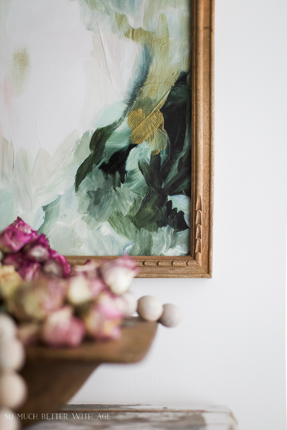 Vintage floral artwork, How to Pick Art with a French Vintage Vibe / picture frame - So Much Better With Age