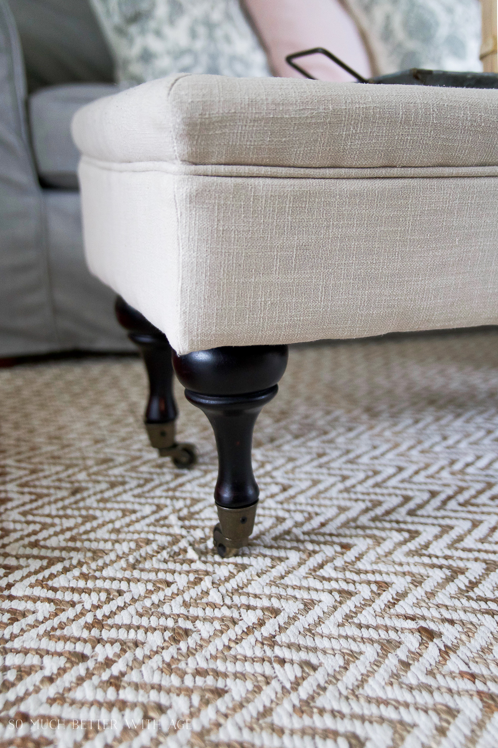 How to Easily Update Furniture Legs  / ottoman legs - So Much Better With Age