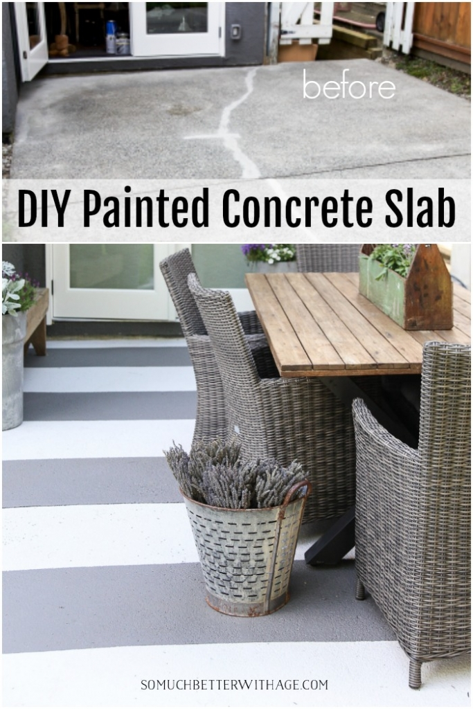 How To Paint Stripes Like An Outdoor Rug On Patio Concrete