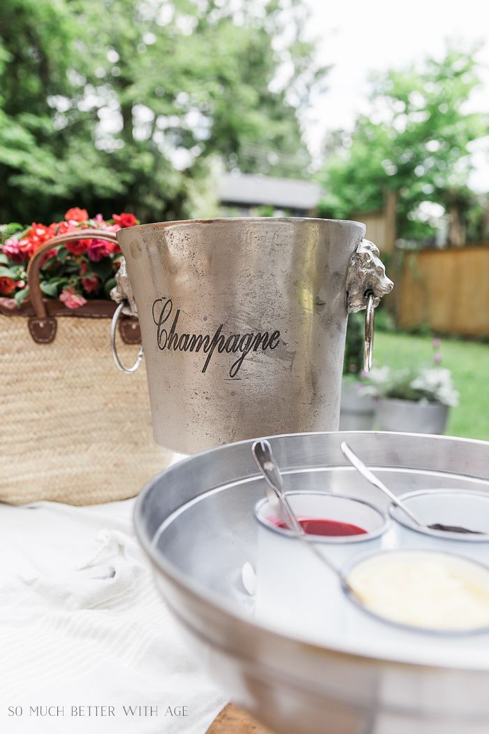 Banana Split Outdoor Party/French champagne bucket - So Much Better With Age
