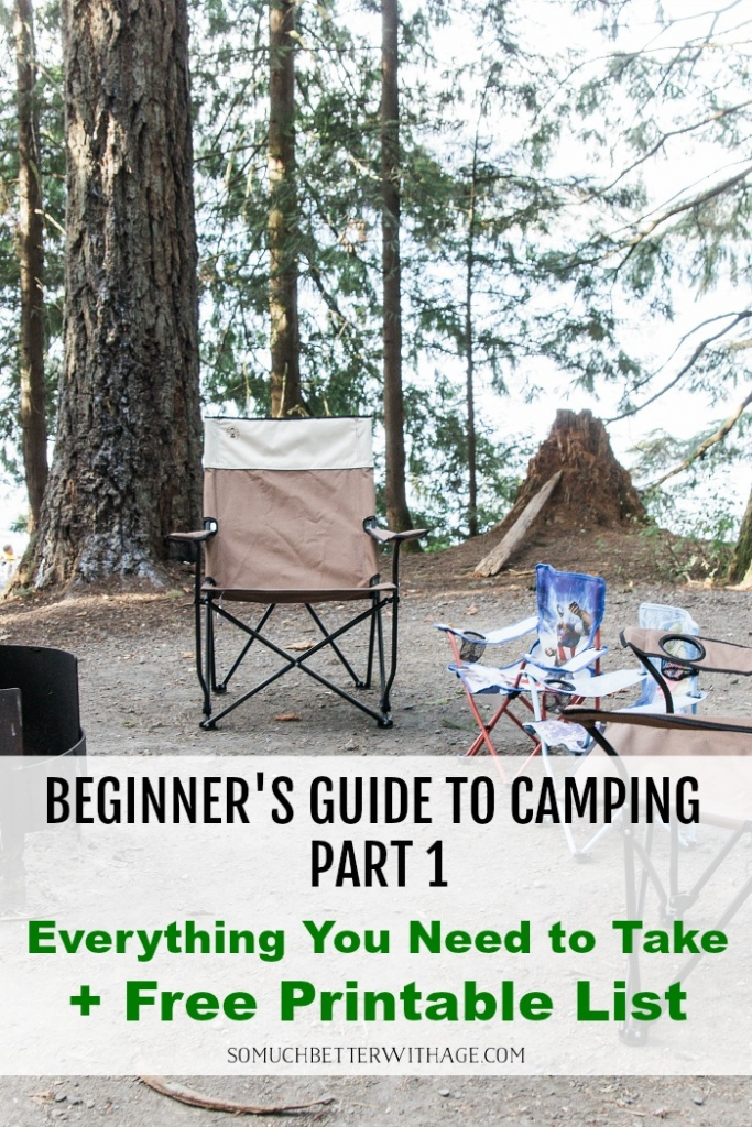 Free printable list of what to bring camping.