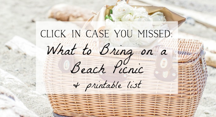 What to bring on a beach picnic and free printable list