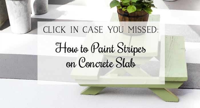 How to Paint Stripes on Concrete Slab