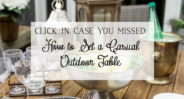 How to set a casual outdoor table poster.