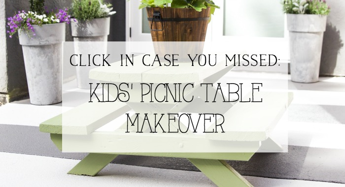 Kids' Picnic Table Makeover - So Much Better With Age