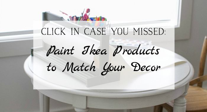 Paint Ikea Products to Match Your Decor - So Much Better With Age