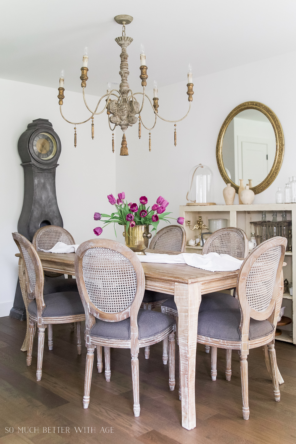 French Vintage Dining Room/French Chandelier   So Much Better With Age