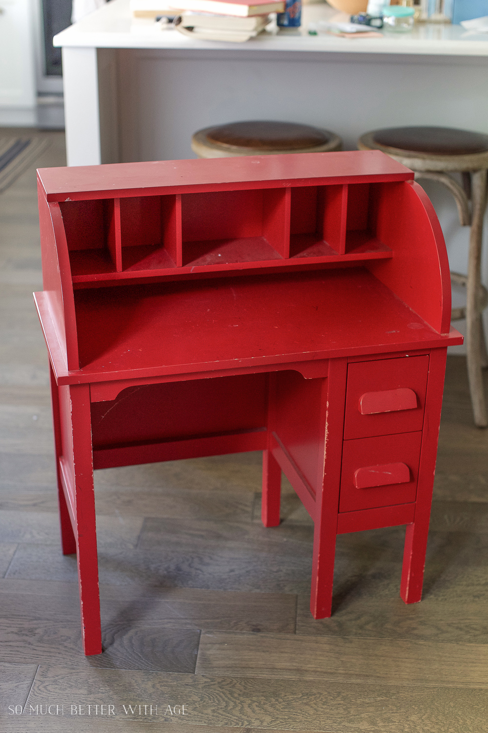Colored Furniture how to paint over bright or dark coloured furniture-vintage kid's