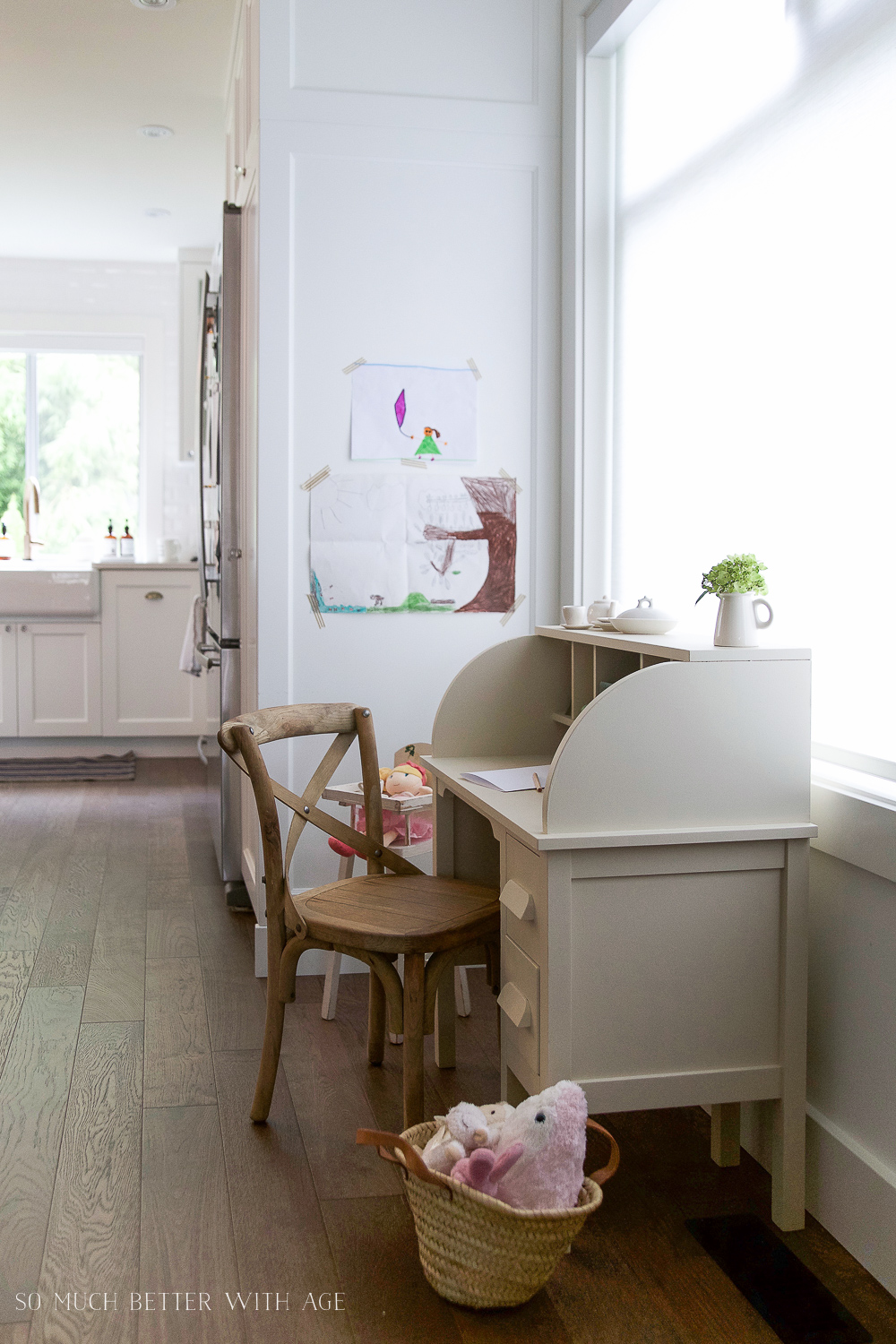 How To Paint Over Bright Or Dark Coloured Furniture, Kidsu0027 Vintage Desk  Makeover