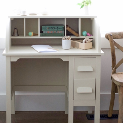 How to Paint Over Bright or Dark Coloured Furniture-Vintage Kid's Desk Makeover