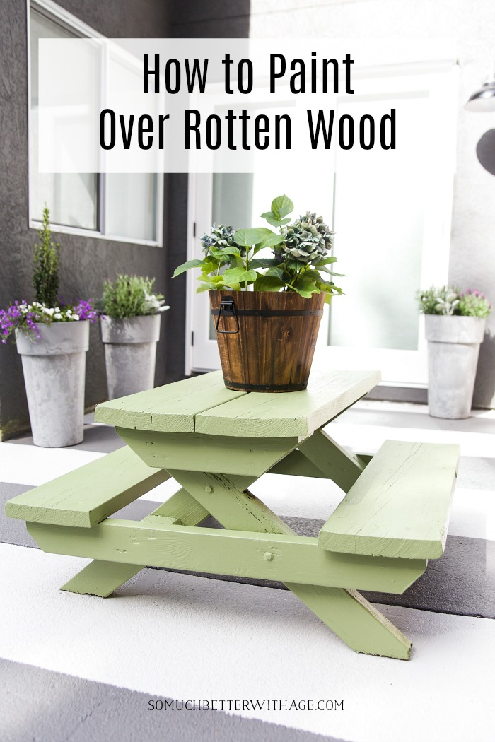 How to Paint Over Rotten Wood - So Much Better With Age