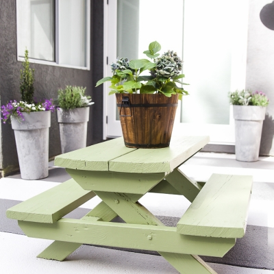 Kids' Picnic Table Makeover – Fix the Rot or Just Paint It?