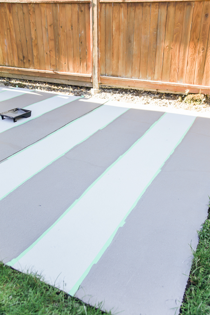 How To Paint Stripes Like An Outdoor Rug On Patio Concrete Slab So Much Bet