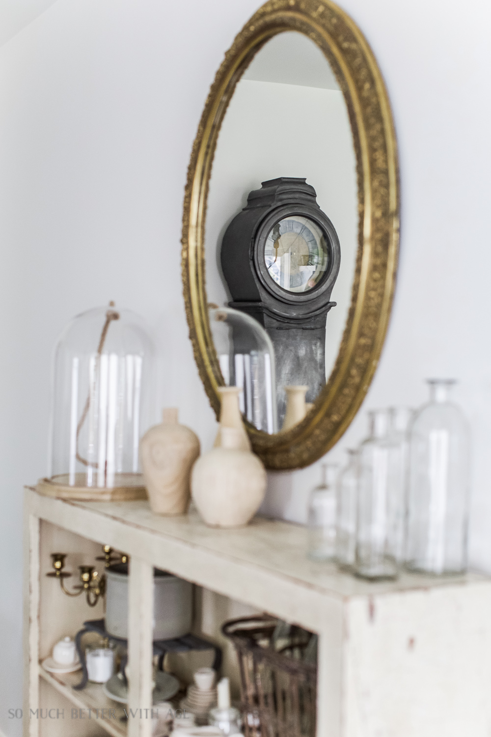 French Vintage Dining Room/Mora clock in gold mirror - So Much Better With Age